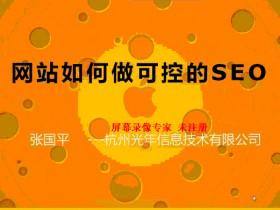 SEO视频教程:张国平光年SEO培训视频教程(1)