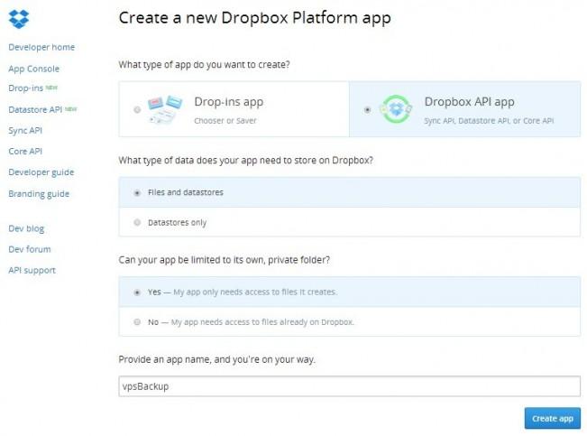 自动备份网站并同步到 Dropbox